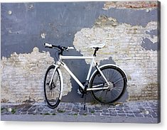 Acrylic Print featuring the photograph Bicycle Copenhagen Denmark by John Jacquemain