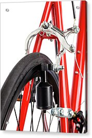 Bicycle Dynamo Fixed To Back Wheel Acrylic Print by Science Photo Library