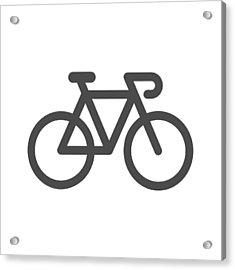 Bicycle Icon Acrylic Print by Rakdee