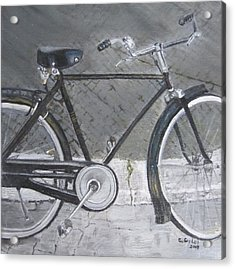 Bicycle In Rome Acrylic Print