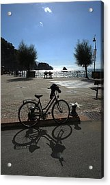 Acrylic Print featuring the photograph Bicycle Monterosso Italy by John Jacquemain