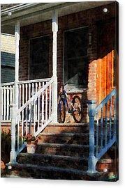 Bicycle On Porch Acrylic Print by Susan Savad