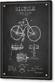 Bicycle Patent Drawing From 1891 Acrylic Print