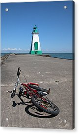 Acrylic Print featuring the photograph Bicycle Port Dalhousie Ontario by John Jacquemain