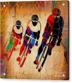 Bicycle Race Acrylic Print by Marvin Blaine