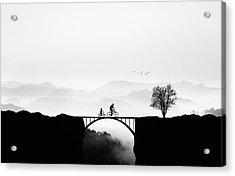 Bicycle Ride Acrylic Print by Bess Hamiti