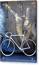 Acrylic Print featuring the photograph Bicycle Toronto Ontario by John Jacquemain