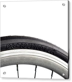 Bicycle Tyre Acrylic Print by Science Photo Library