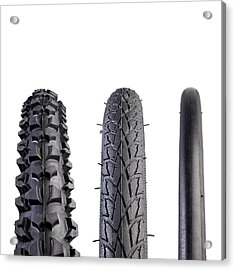 Bicycle Tyres Acrylic Print by Science Photo Library