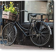Bicycle With Flowers #1 Acrylic Print