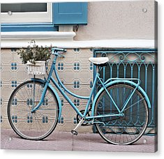 Vintage Bicycle Photography - Bicycles Are Not Only For Summer Acrylic Print
