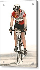 Acrylic Print featuring the painting Bicycles Have No Walls by Ferrel Cordle