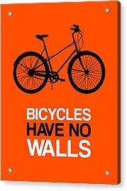 Bicycles Have No Walls Poster 1 Acrylic Print by Naxart Studio