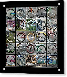 Bicycles Acrylic Print
