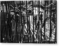 Acrylic Print featuring the photograph Bicycles by Maja Sokolowska