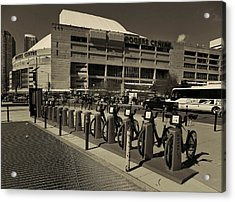 Bicycles On Bremner Acrylic Print by Nicky Jameson