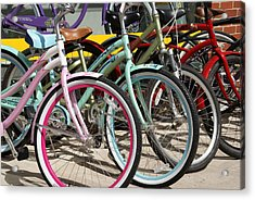 Bicycles Acrylic Print by Thomas Fouch