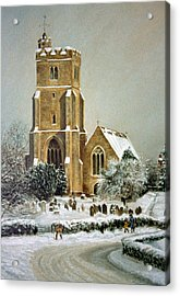 Acrylic Print featuring the painting Biddenden Church by Rosemary Colyer
