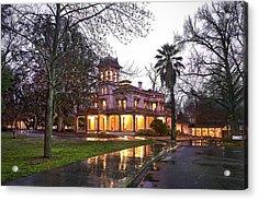 Bidwell Mansion In The Rain  Acrylic Print