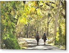 Bidwell Park Horse Trail Acrylic Print