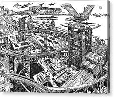 Biederman Futuristic City Acrylic Print