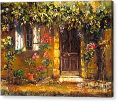 Bienvenue A' Provence Acrylic Print