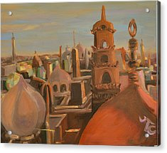 Acrylic Print featuring the painting Bienvenue Au Caire by Julie Todd-Cundiff