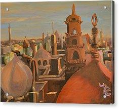 Bienvenue Au Caire Acrylic Print by Julie Todd-Cundiff