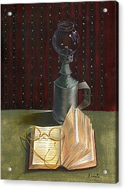Acrylic Print featuring the painting Bifocal Read by Doreta Y Boyd