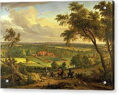 Bifrons Park, Kent Hunting Scene With Brifons Park Acrylic Print by Litz Collection