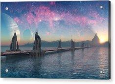 Bifrost Bridge Acrylic Print by Cynthia Decker