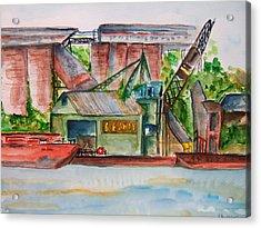Big Andy Terminal On Ohio River Acrylic Print by Elaine Duras