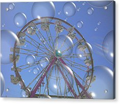 Big B Bubble Ferris Wheel Acrylic Print