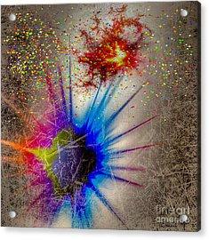 Acrylic Print featuring the digital art Big Bang by Eleni Mac Synodinos