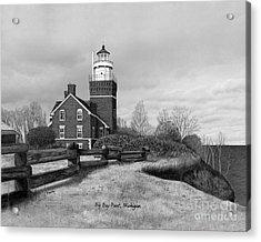 Big Bay Point Lighthouse Titled Acrylic Print by Darren Kopecky