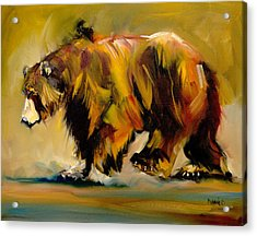 Big Bear Walking Acrylic Print
