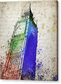 Big Ben Acrylic Print by Aged Pixel