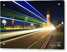 Big Ben And A Bus Acrylic Print