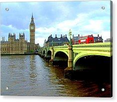 Big Ben And River Thames Acrylic Print