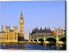 Big Ben And Westminster Bridge Acrylic Print by Elena Elisseeva
