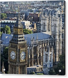 Big Ben And Westminster Acrylic Print by Ron Grafe