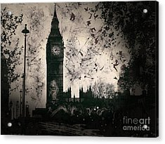 Big Ben Black And White Acrylic Print