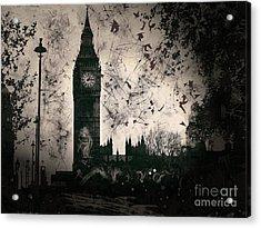 Big Ben Black And White Acrylic Print