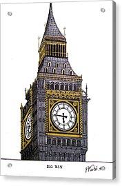 Big Ben Acrylic Print by Frederic Kohli