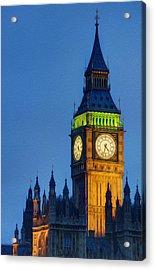 Big Ben London Digital Painting  Acrylic Print