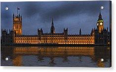 Big Ben Parliament London Digital Painting Acrylic Print