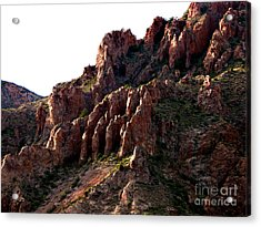 The Mountain's Hand Acrylic Print by Linda Cox
