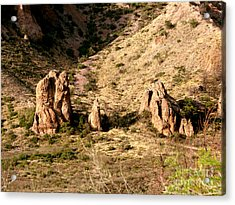Big Bend Nativity Acrylic Print by Linda Cox