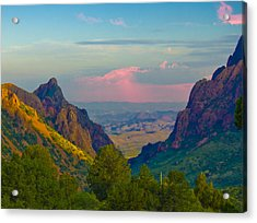 Big Bend Texas From The Chisos Mountain Lodge Acrylic Print by Gary Grayson