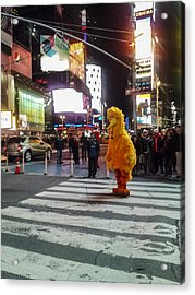 Big Bird On Times Square Acrylic Print